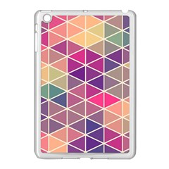 Chevron Colorful Apple iPad Mini Case (White)
