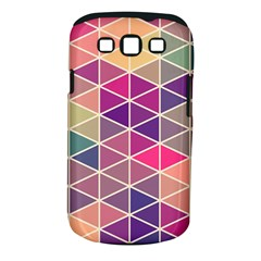 Chevron Colorful Samsung Galaxy S III Classic Hardshell Case (PC+Silicone)