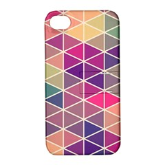 Chevron Colorful Apple iPhone 4/4S Hardshell Case with Stand