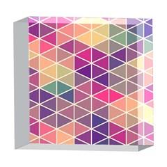 Chevron Colorful 5  x 5  Acrylic Photo Blocks