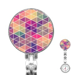 Chevron Colorful Stainless Steel Nurses Watch