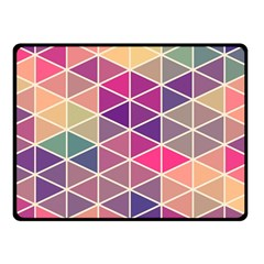 Chevron Colorful Double Sided Fleece Blanket (Small)