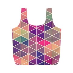 Chevron Colorful Full Print Recycle Bags (M)