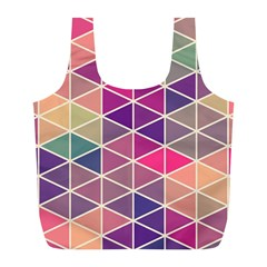 Chevron Colorful Full Print Recycle Bags (L)
