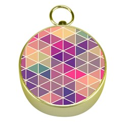 Chevron Colorful Gold Compasses