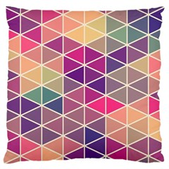 Chevron Colorful Large Flano Cushion Case (Two Sides)