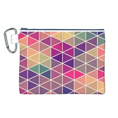 Chevron Colorful Canvas Cosmetic Bag (L)