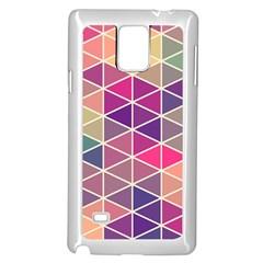 Chevron Colorful Samsung Galaxy Note 4 Case (White)