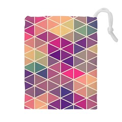 Chevron Colorful Drawstring Pouches (Extra Large)