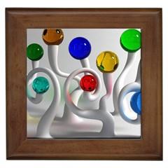 Colorful Glass Balls Framed Tiles