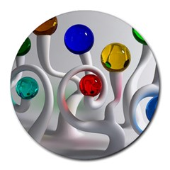 Colorful Glass Balls Round Mousepads