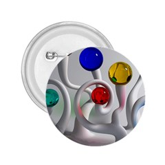 Colorful Glass Balls 2.25  Buttons