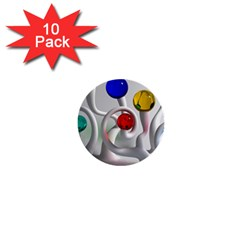 Colorful Glass Balls 1  Mini Buttons (10 pack)
