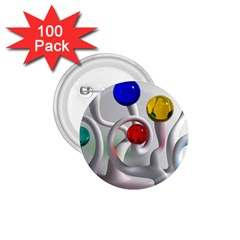 Colorful Glass Balls 1.75  Buttons (100 pack)