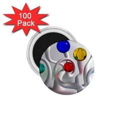 Colorful Glass Balls 1.75  Magnets (100 pack)