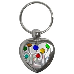Colorful Glass Balls Key Chains (Heart)