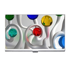 Colorful Glass Balls Business Card Holders