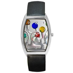 Colorful Glass Balls Barrel Style Metal Watch