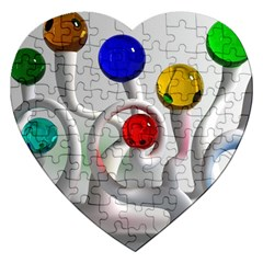 Colorful Glass Balls Jigsaw Puzzle (Heart)