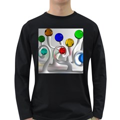 Colorful Glass Balls Long Sleeve Dark T-Shirts