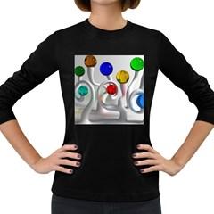 Colorful Glass Balls Women s Long Sleeve Dark T-Shirts