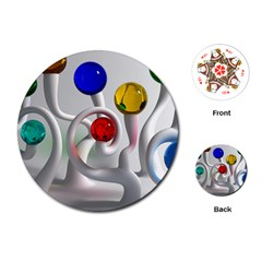 Colorful Glass Balls Playing Cards (Round)