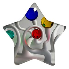 Colorful Glass Balls Star Ornament (Two Sides)