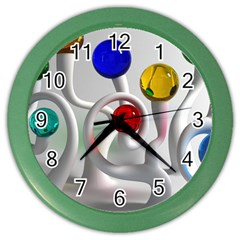 Colorful Glass Balls Color Wall Clocks