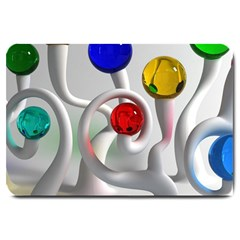 Colorful Glass Balls Large Doormat