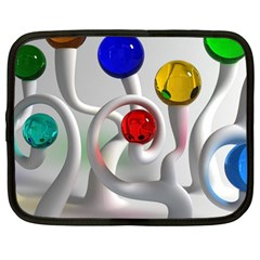Colorful Glass Balls Netbook Case (Large)