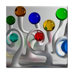 Colorful Glass Balls Face Towel