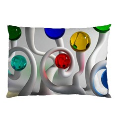 Colorful Glass Balls Pillow Case