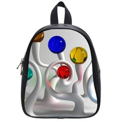Colorful Glass Balls School Bags (Small)