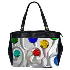 Colorful Glass Balls Office Handbags (2 Sides)