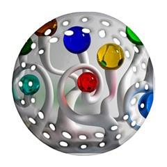 Colorful Glass Balls Ornament (Round Filigree)