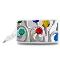 Colorful Glass Balls Portable Speaker (White)