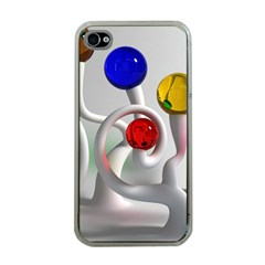 Colorful Glass Balls Apple iPhone 4 Case (Clear)