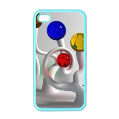 Colorful Glass Balls Apple iPhone 4 Case (Color)