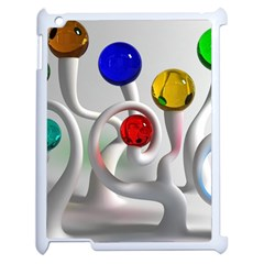 Colorful Glass Balls Apple iPad 2 Case (White)