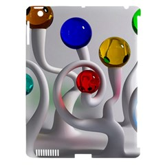 Colorful Glass Balls Apple iPad 3/4 Hardshell Case (Compatible with Smart Cover)