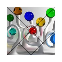 Colorful Glass Balls Acrylic Tangram Puzzle (6  x 6 )