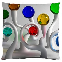 Colorful Glass Balls Large Cushion Case (One Side)
