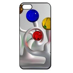 Colorful Glass Balls Apple iPhone 5 Seamless Case (Black)
