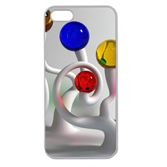 Colorful Glass Balls Apple Seamless iPhone 5 Case (Clear)