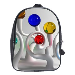 Colorful Glass Balls School Bags (XL)