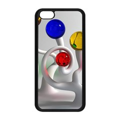 Colorful Glass Balls Apple iPhone 5C Seamless Case (Black)