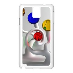 Colorful Glass Balls Samsung Galaxy Note 3 N9005 Case (White)