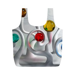 Colorful Glass Balls Full Print Recycle Bags (M)