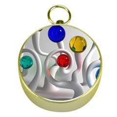 Colorful Glass Balls Gold Compasses