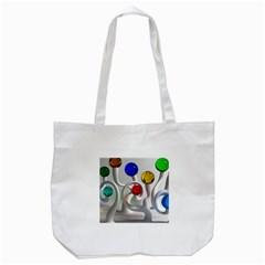 Colorful Glass Balls Tote Bag (White)